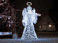 Light Angel with trumpet - Cracow